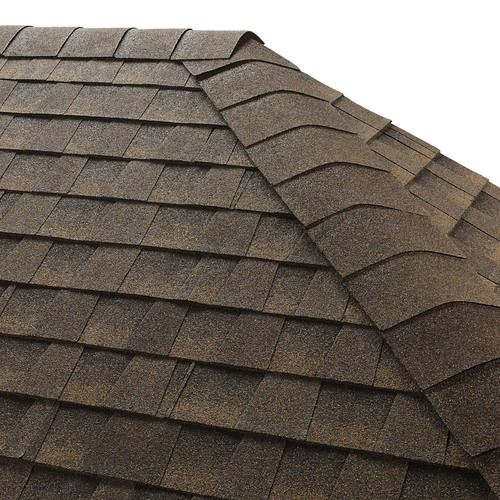 GAF Seal-A-Ridge 25-lin ft Barkwood Hip and Ridge Roof Shingles