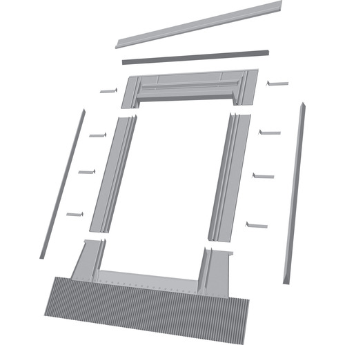 FAKRO ELW Aluminum Deck Mount Skylight Flashing Kit