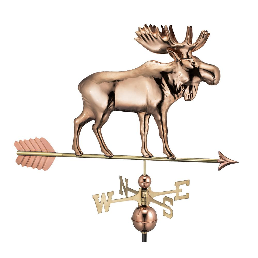 Moose Weathervane with Arrow - Pure Copper