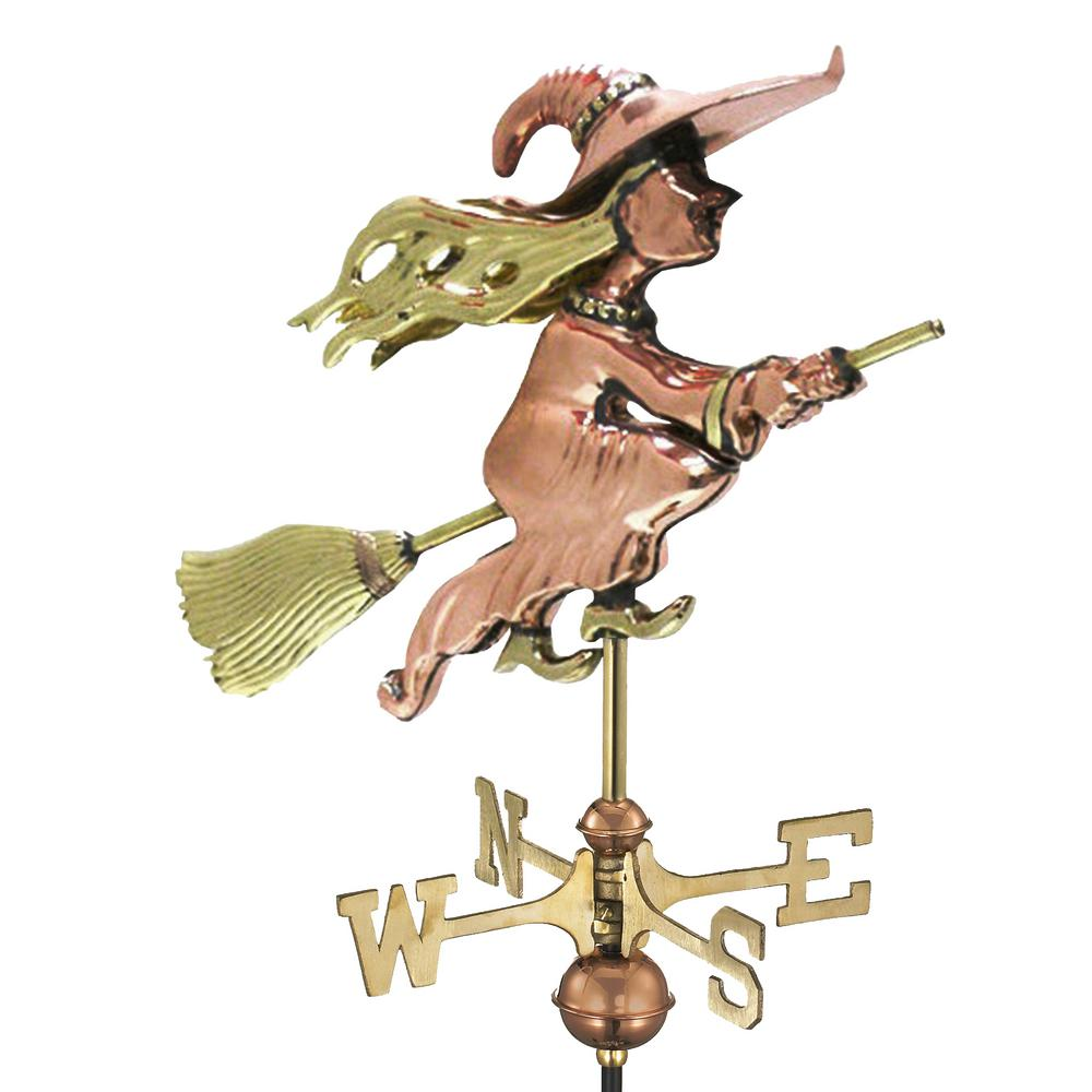 Witch Garden Weathervane - Pure Copper with Garden Pole