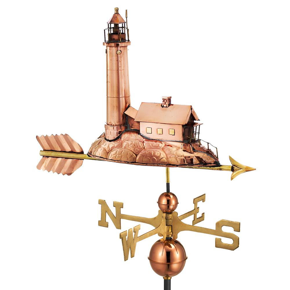 Lighthouse Weathervane - Pure Copper