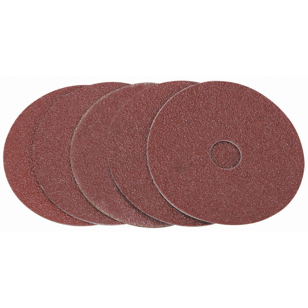 4-1/2 in. 36 Grit Resin Fiber Sanding Discs 5 Pc