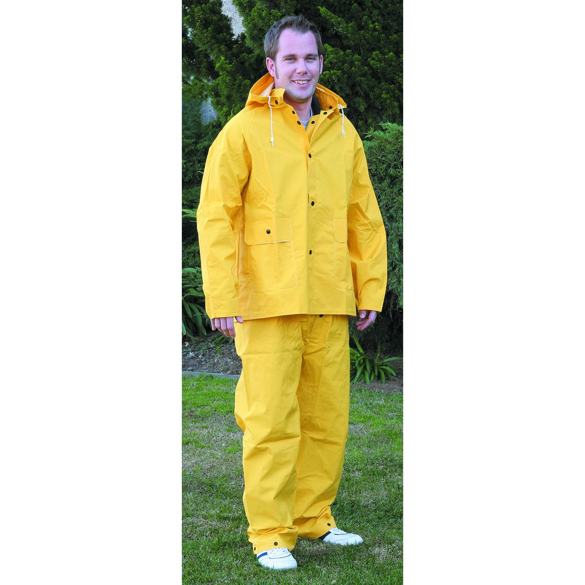 2 Piece Yellow Rain Suit, X-Large