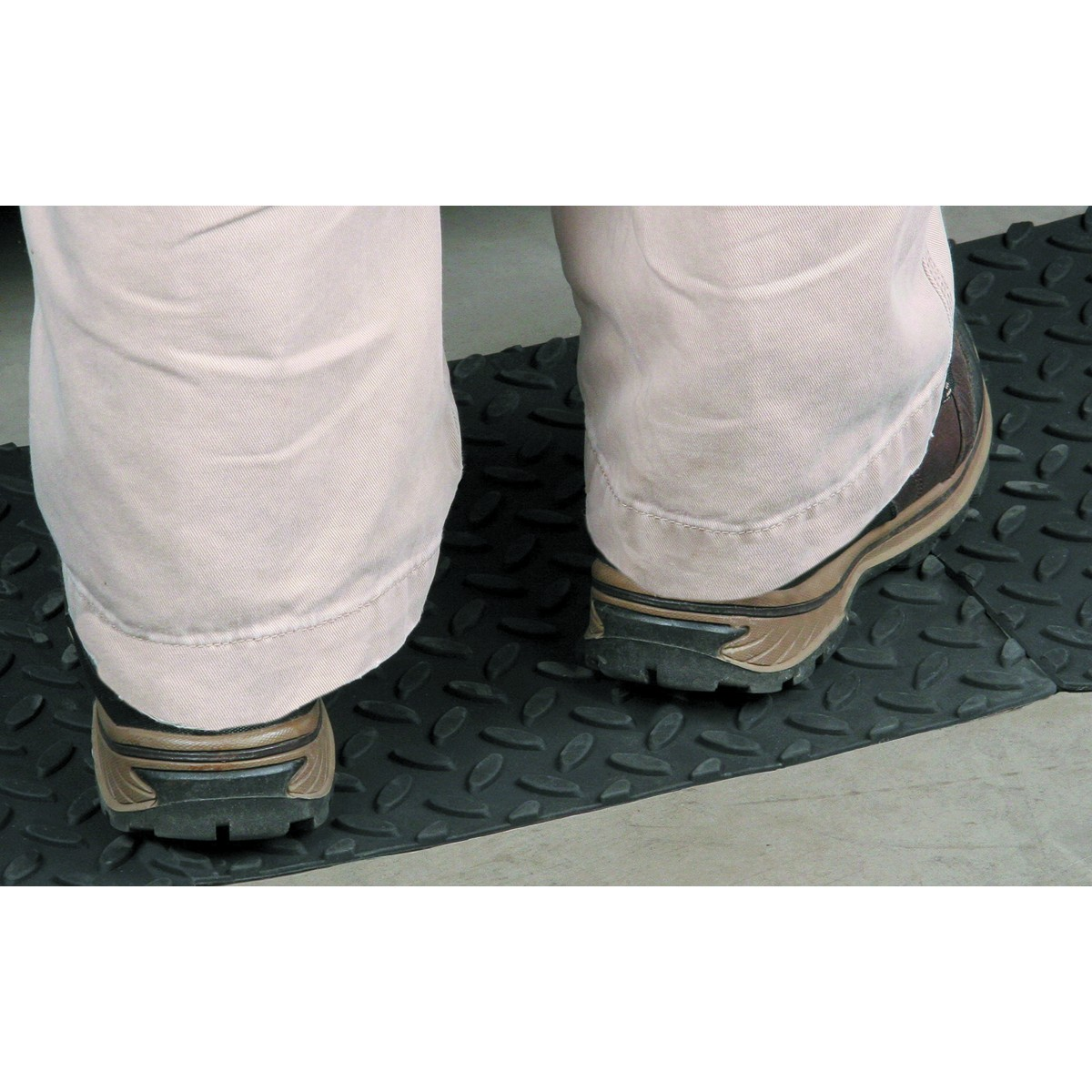 12 in. x 12 in. Self-Adhesive Rubber Safety Mat with Tread Surface